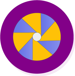 Full color printing icon