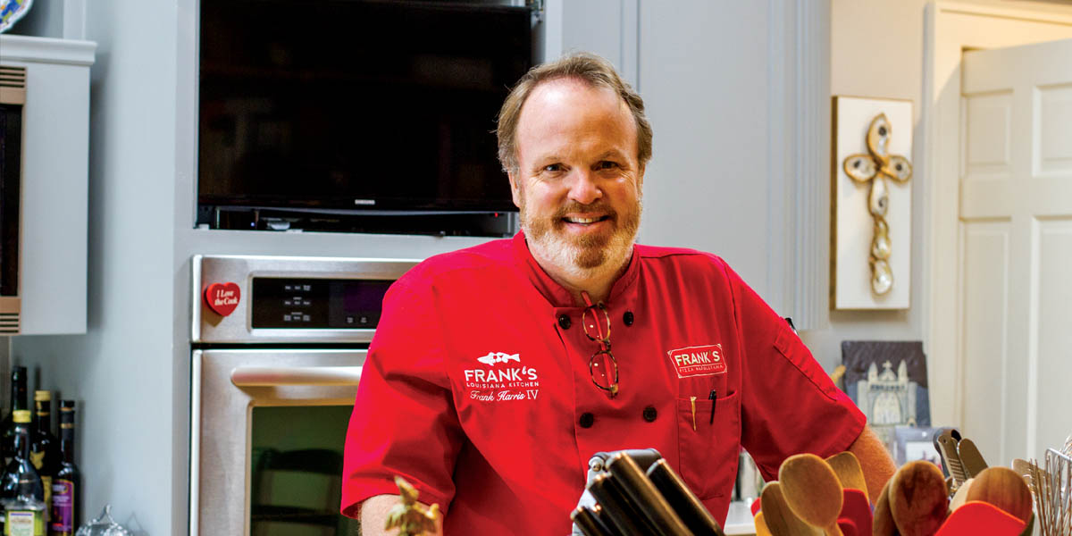Frank Harris IV in his home kitchen